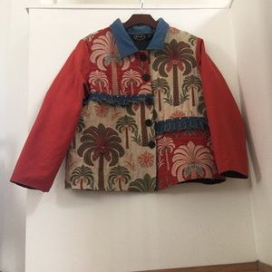 Vintage Julia Kim Denim & Carpet Jacket